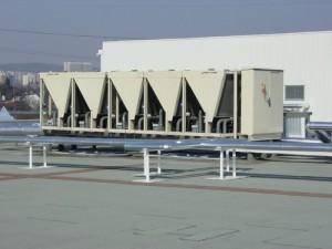 Chladící jednotka s výkonem 1200 kW