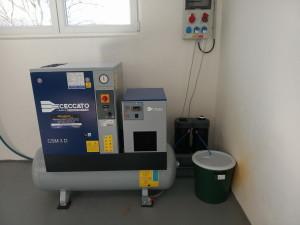 Kompresorová jednotka 2,2 kW + separátor
